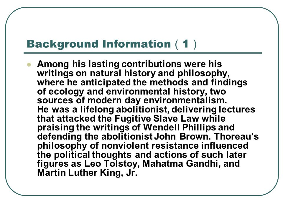 Background Information(1)