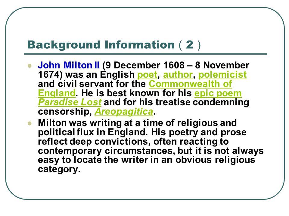 Background Information(2)