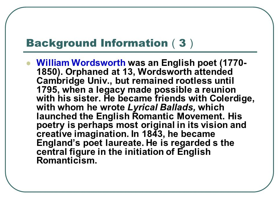 Background Information(3)