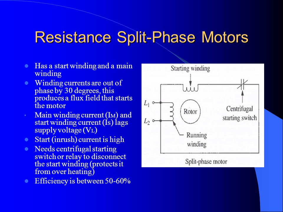 Resistance Split-Phase Motors