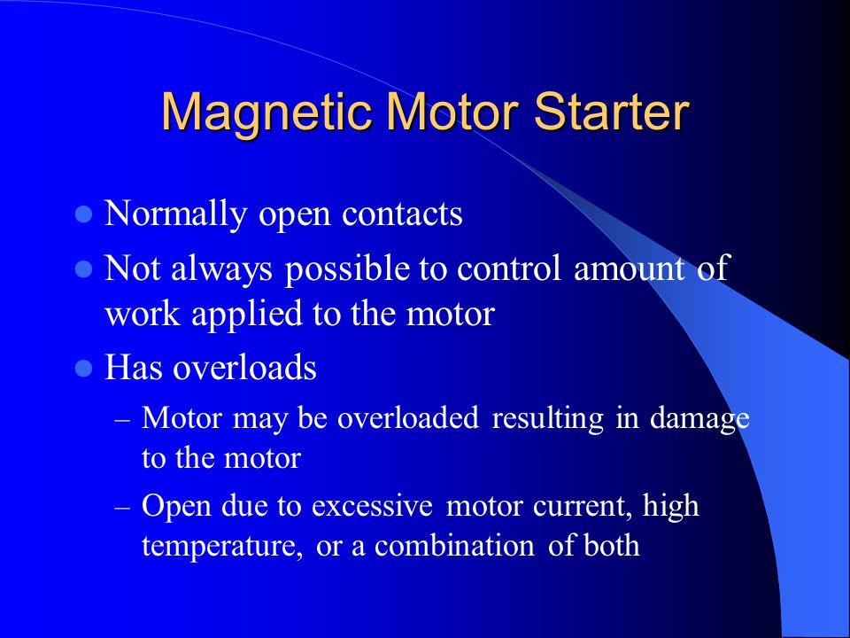 Magnetic Motor Starter