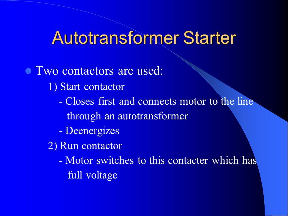 Autotransformer Starter