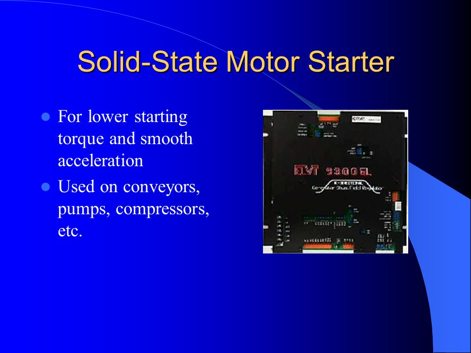 Solid-State Motor Starter