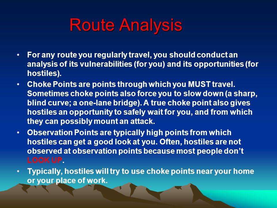 Route Analysis