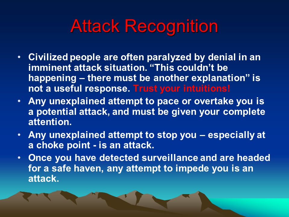 Attack Recognition