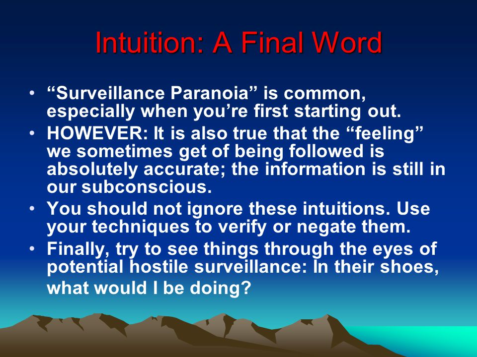 Intuition: A Final Word