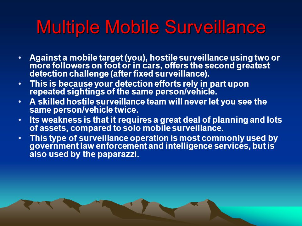 Multiple Mobile Surveillance