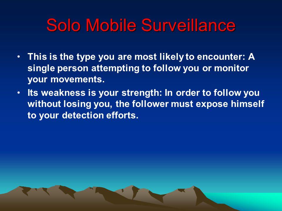 Solo Mobile Surveillance