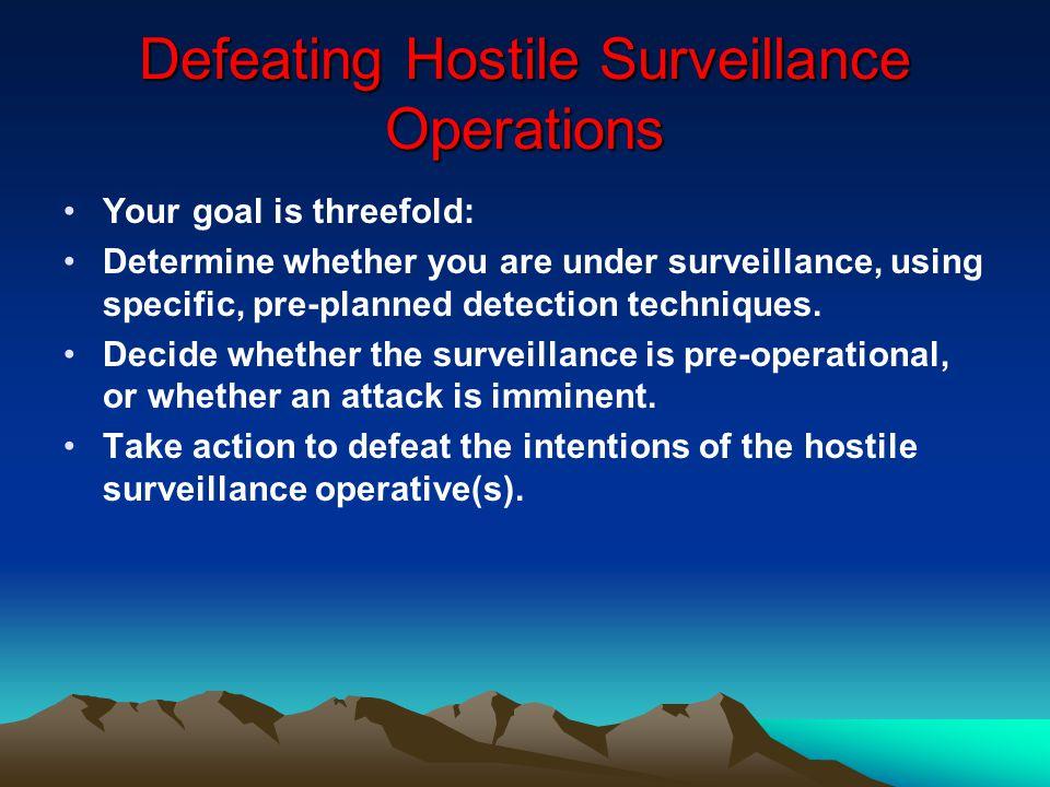 Defeating Hostile Surveillance Operations