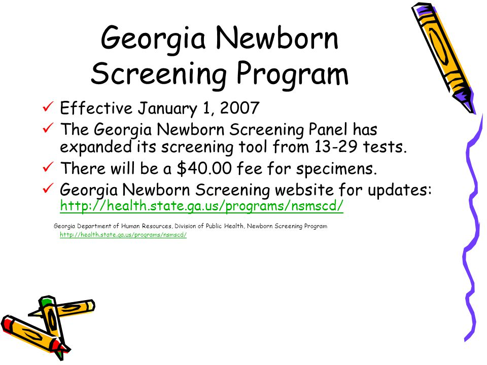 Georgia Newborn Screening Program