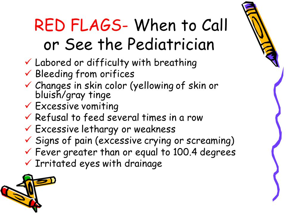 RED FLAGS- When to Call or See the Pediatrician