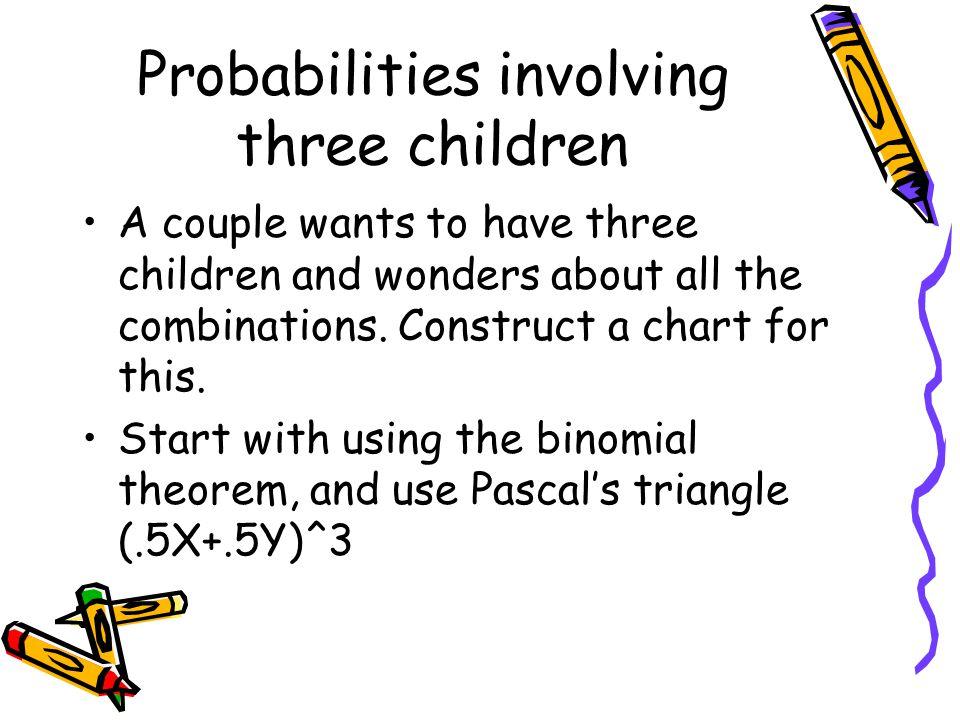 Probabilities involving three children