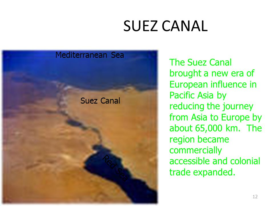 SUEZ CANAL Mediterranean Sea.
