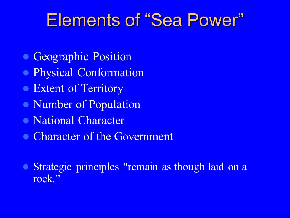 Elements of Sea Power