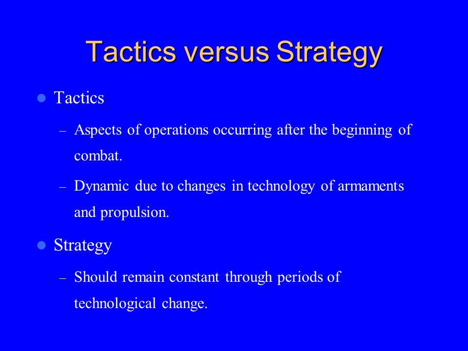 Tactics versus Strategy