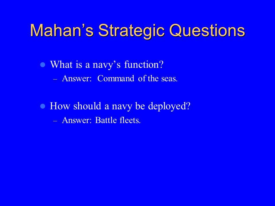 Mahan's Strategic Questions