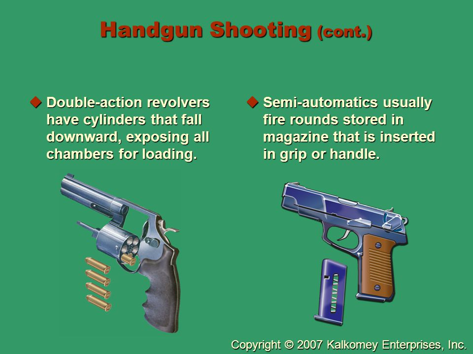 Handgun Shooting (cont.)