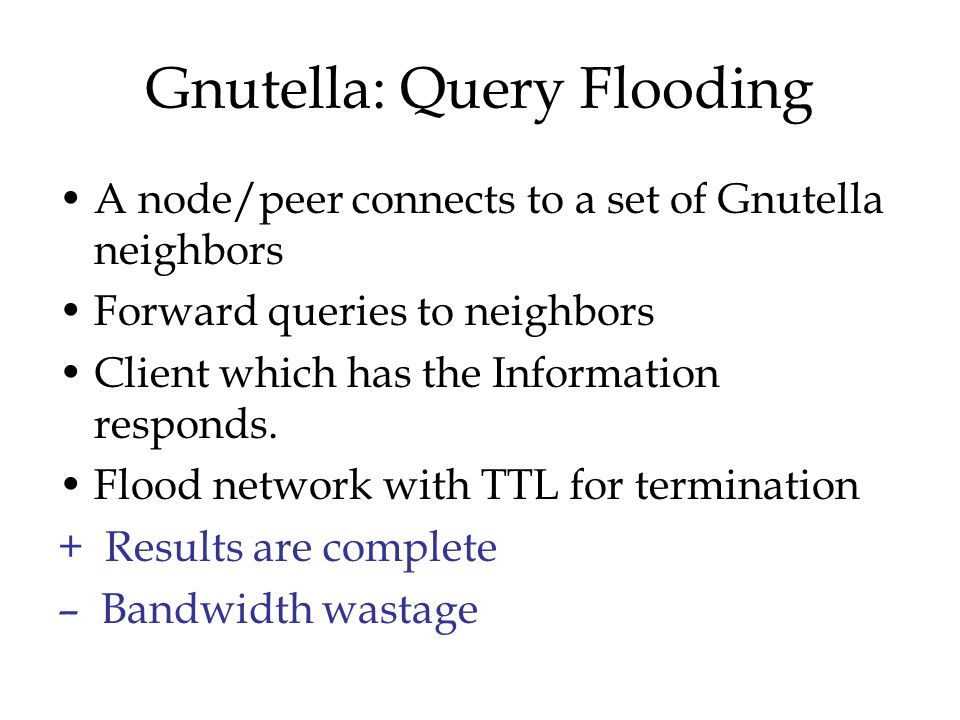 Gnutella: Query Flooding