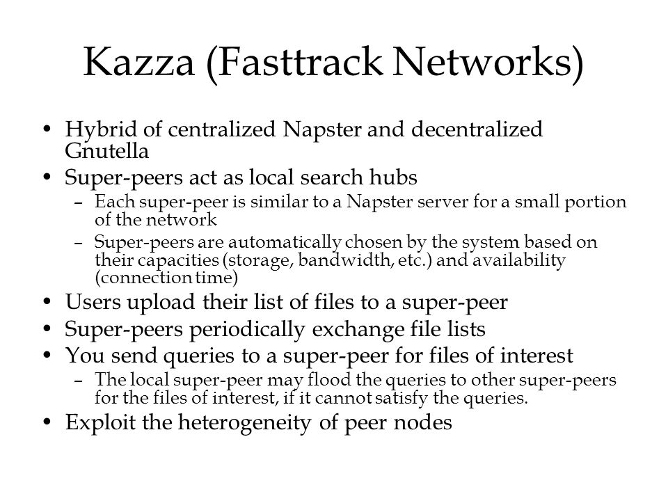 Kazza (Fasttrack Networks)