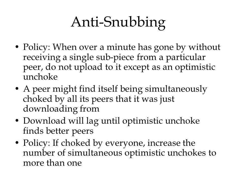 Anti-Snubbing