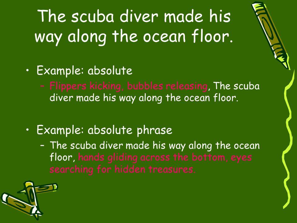 The scuba diver made his way along the ocean floor.