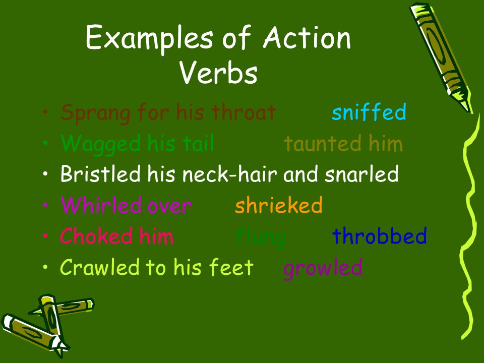 Examples of Action Verbs
