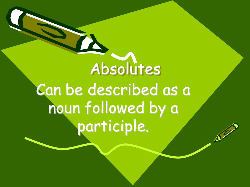 Can be described as a noun followed by a participle.