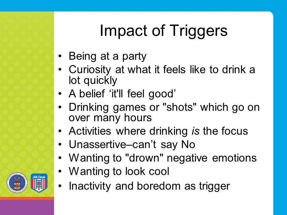 Impact of Triggers Being at a party