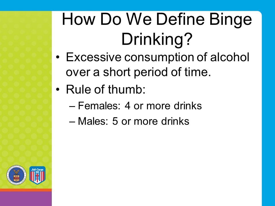 How Do We Define Binge Drinking