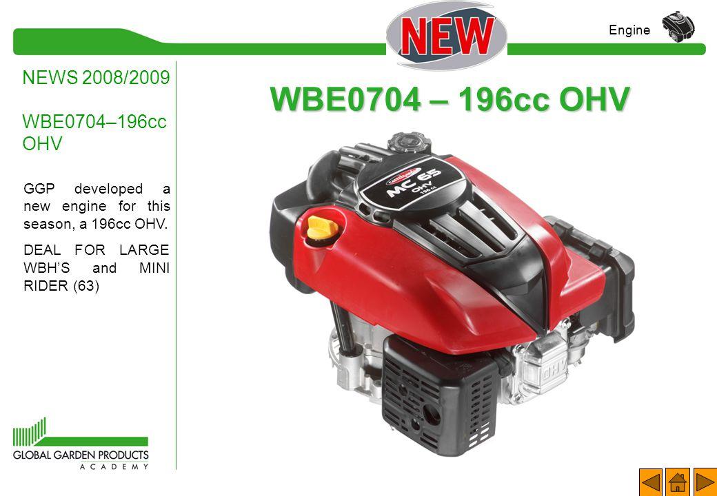 WBE0704 – 196cc OHV NEWS 2008/2009 WBE0704–196cc OHV