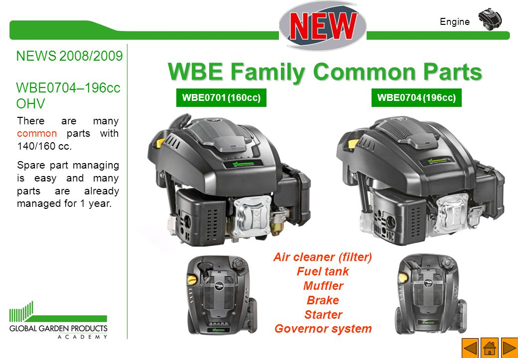 WBE Family Common Parts