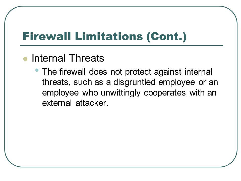 Firewall Limitations (Cont.)