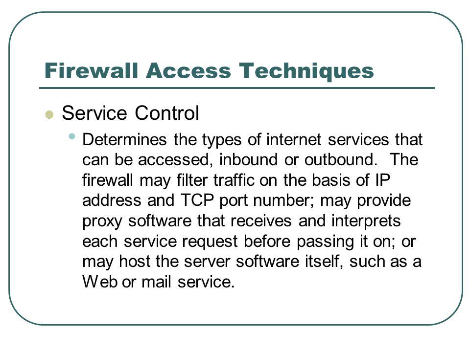 Firewall Access Techniques
