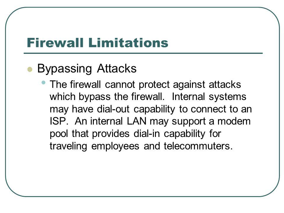 Firewall Limitations Bypassing Attacks