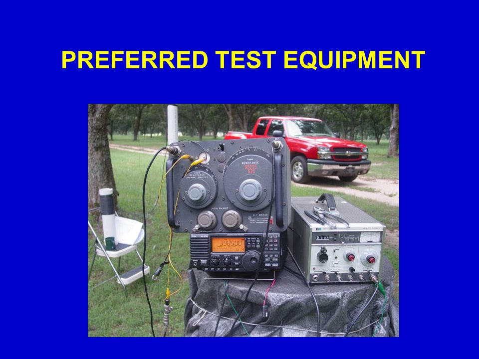 PREFERRED TEST EQUIPMENT