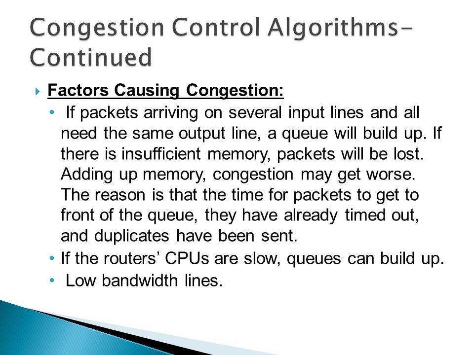 Congestion Control Algorithms-Continued