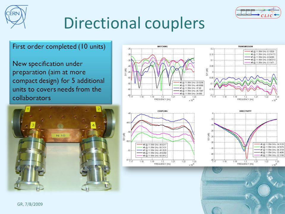 Directional couplers First order completed (10 units)