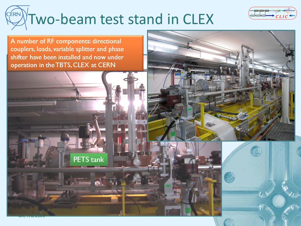 Two-beam test stand in CLEX