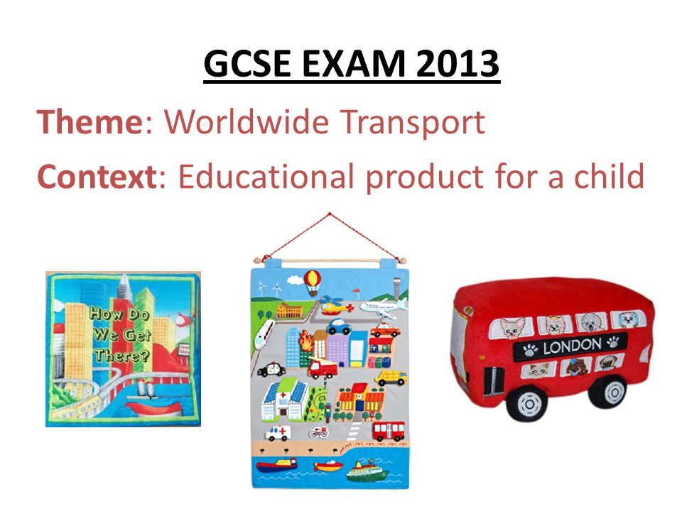 Theme: Worldwide Transport Context: Educational product for a child
