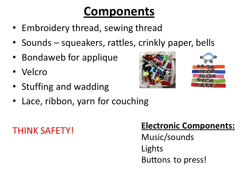 Components Embroidery thread, sewing thread