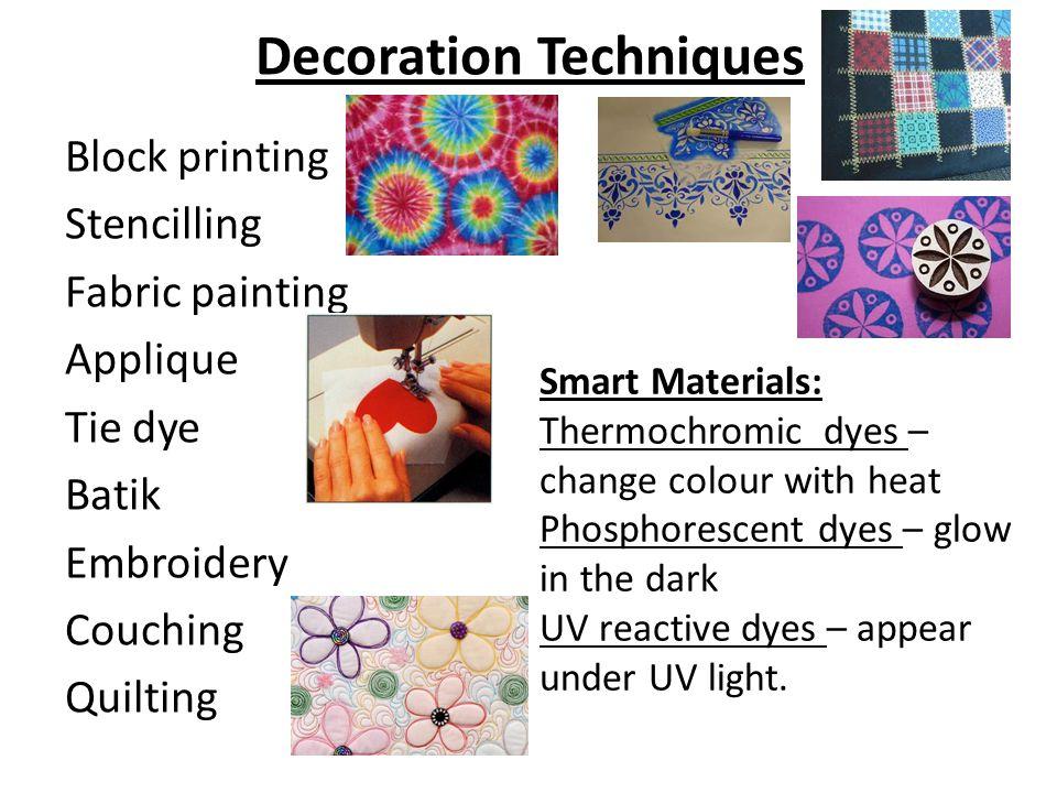 Decoration Techniques