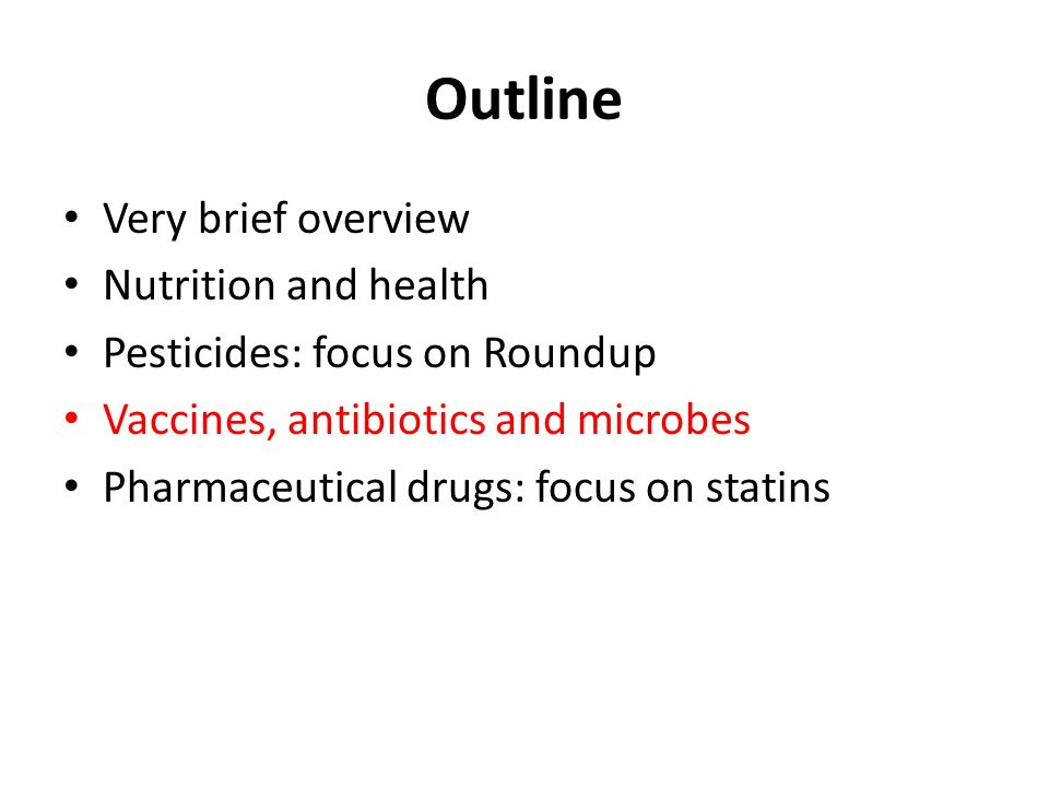 Outline Very brief overview Nutrition and health