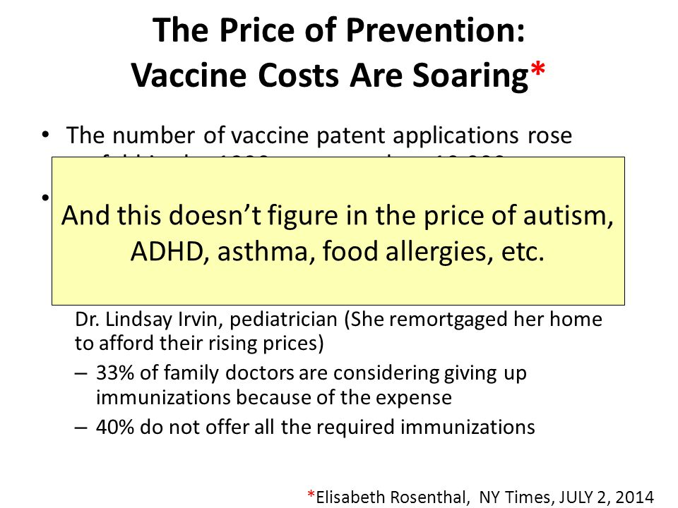 The Price of Prevention: Vaccine Costs Are Soaring*