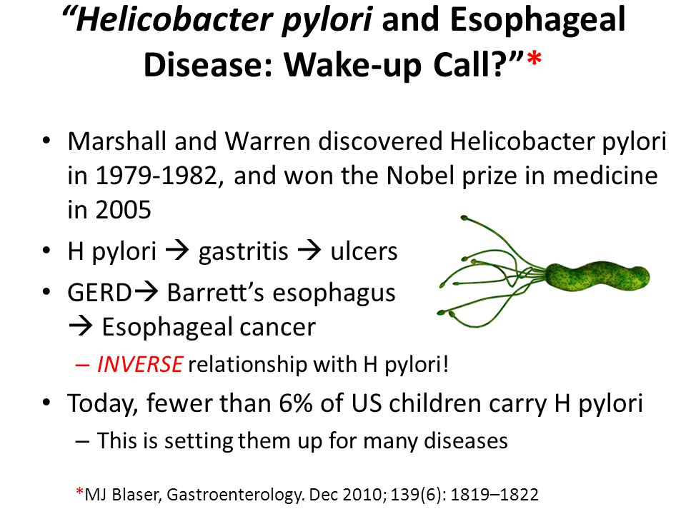 Helicobacter pylori and Esophageal Disease: Wake-up Call *