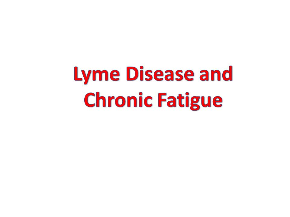 Lyme Disease and Chronic Fatigue
