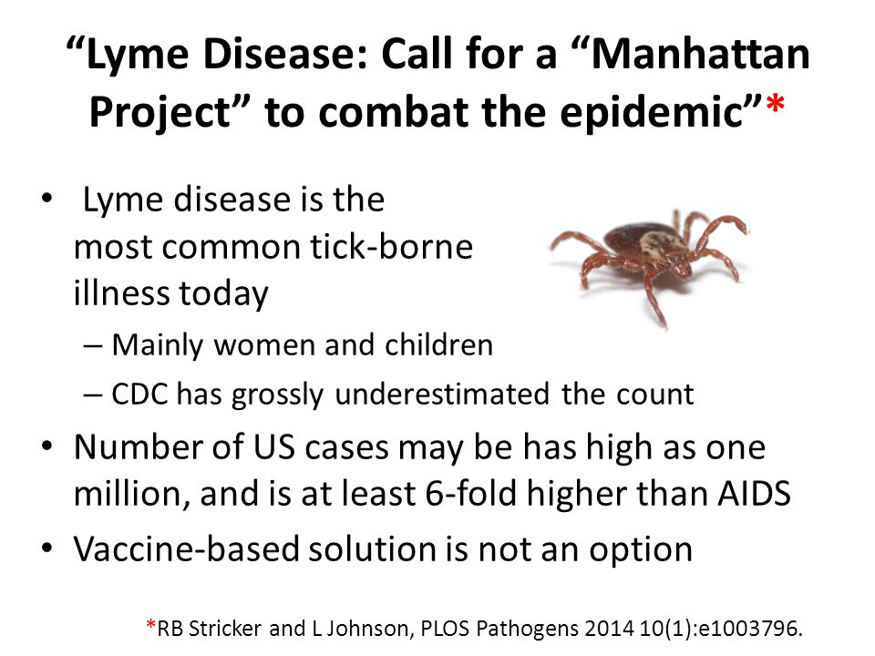 Lyme Disease: Call for a Manhattan Project to combat the epidemic *