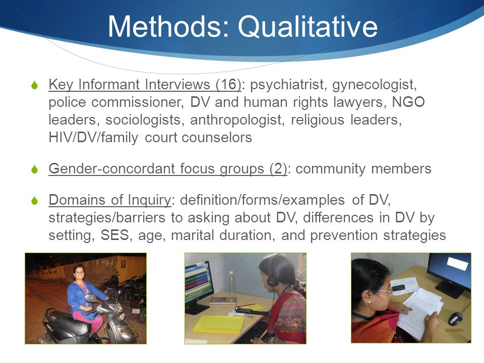 Methods: Qualitative