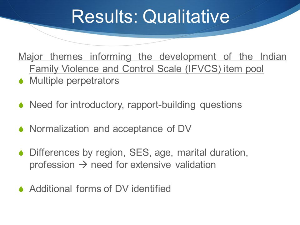 Results: Qualitative Major themes informing the development of the Indian Family Violence and Control Scale (IFVCS) item pool.