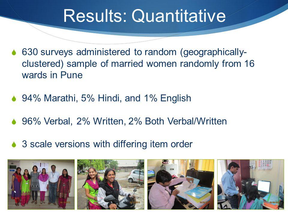 Results: Quantitative