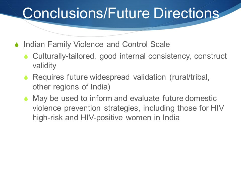 Conclusions/Future Directions
